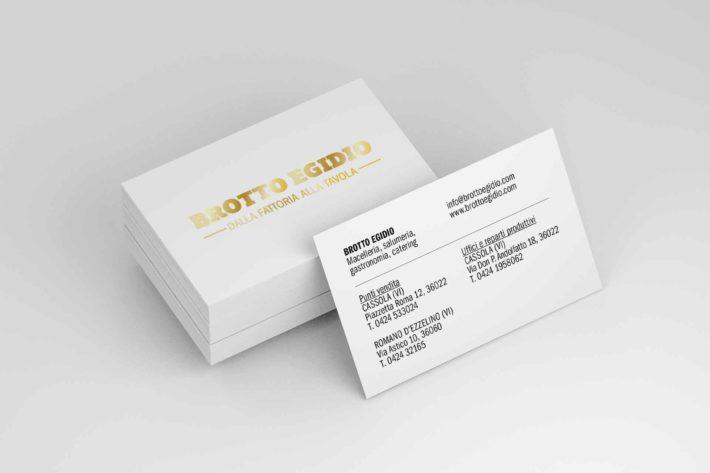 Biglietto da visita per il cliente Brotto Egidio